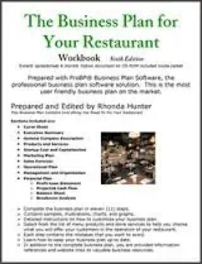 restaurant business plan template 45321