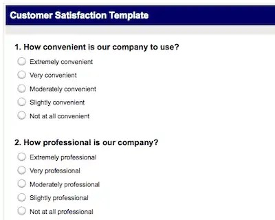 Top 5 Resources To Get Free Satisfaction Survey Templates Word – Free Customer Satisfaction Survey Template