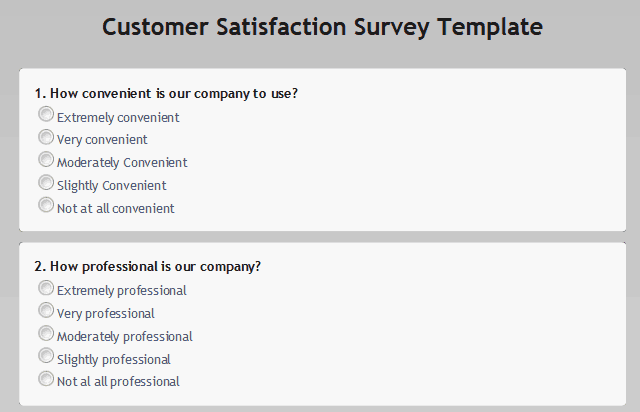Top 5 Resources To Get Free Satisfaction Survey Templates Word