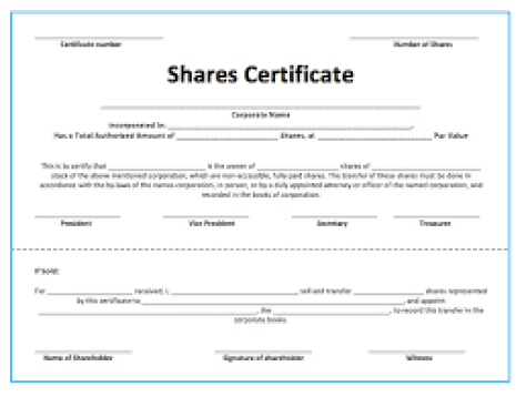 share stock certificate template 4214