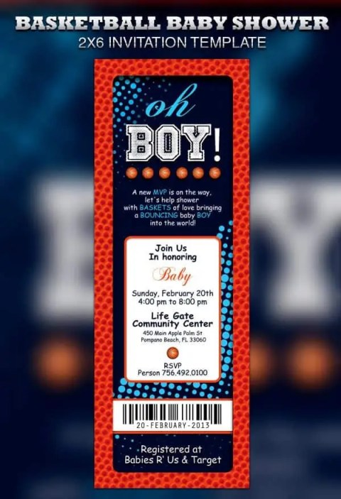 ticket invitation template 4124