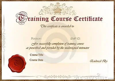 Training Certificate Template 34154