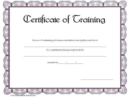training certificate template 5541