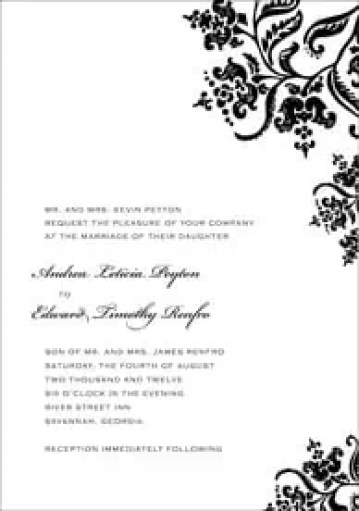 wedding invitation template 324154