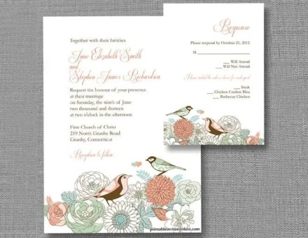 wedding invitation template 5124