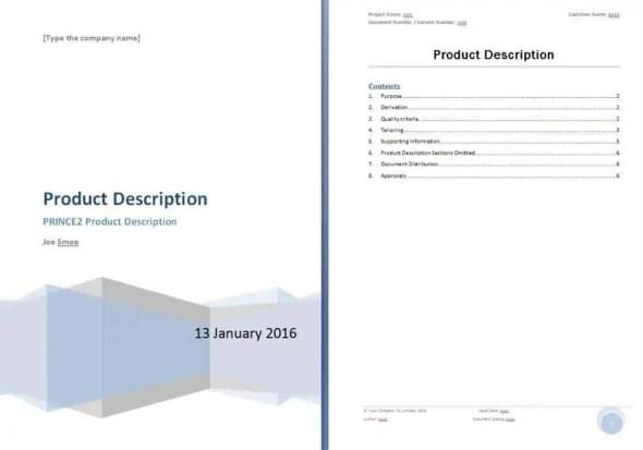 production description template