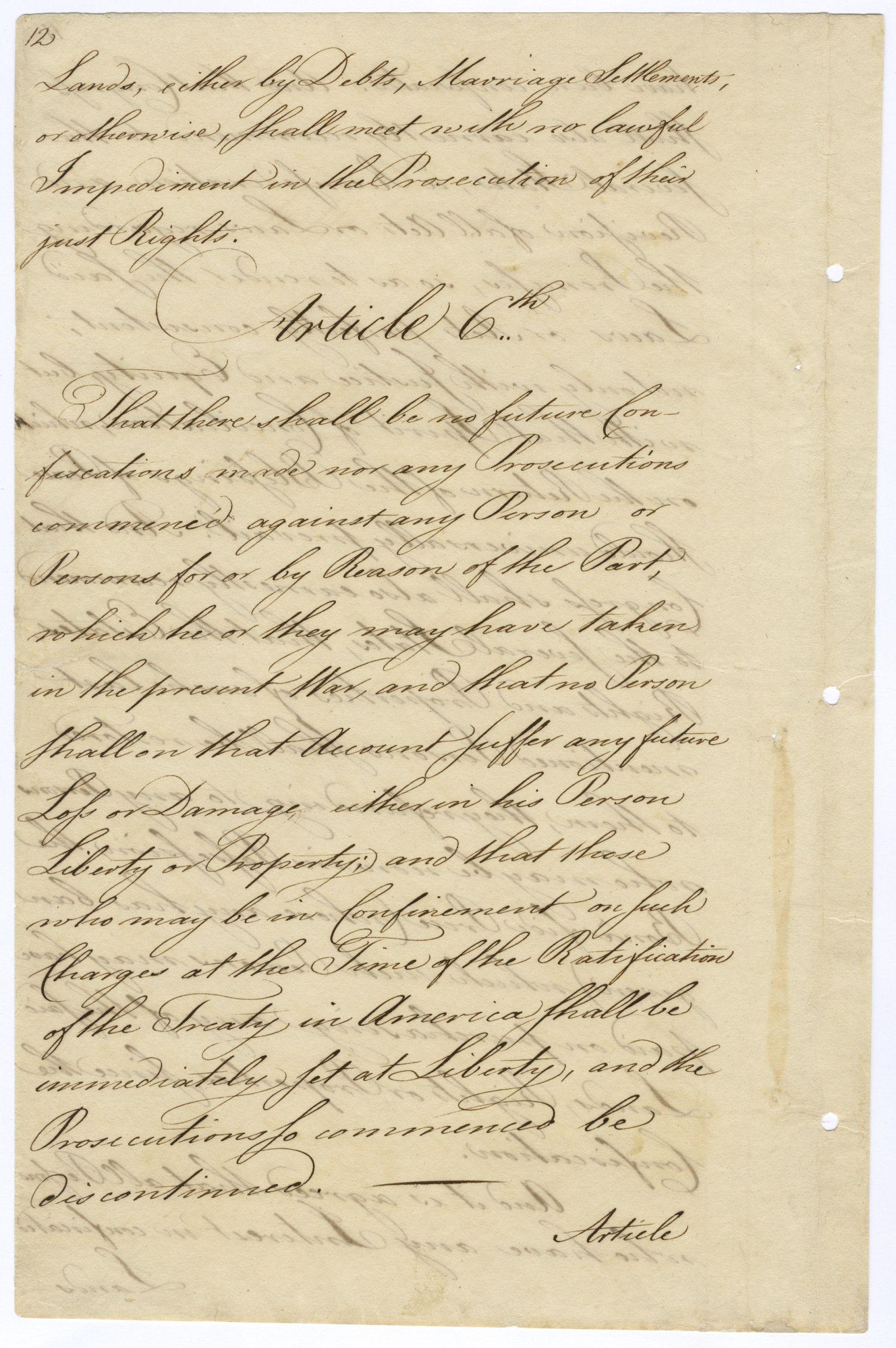 treaty of paris 1783 document