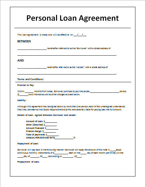 sample agreement letter between two parties lending money pdf