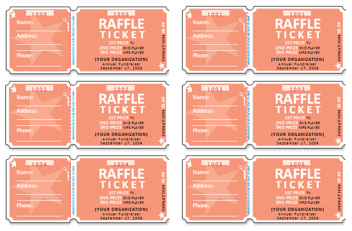 raffle tickets with stubs for word photo credit microsoft – How to Make Tickets on Word