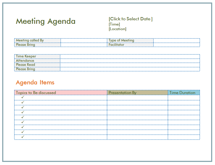 Template Of Meeting Agenda meeting word templates microsoft word – Free Meeting Agenda Template Microsoft Word
