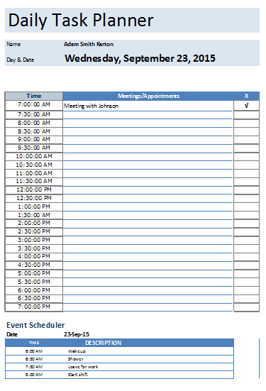Daily Planner Template That Helps To Keep You On Track