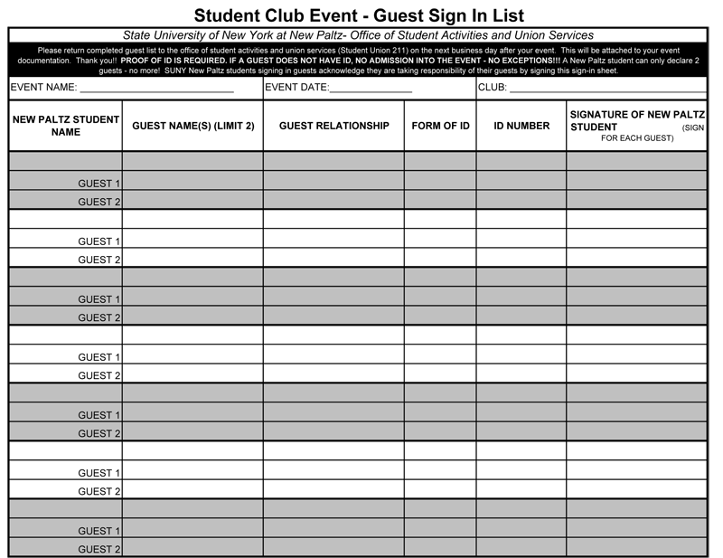 Event Sheet Template how to plan and manage complex events with – Sample Event Sign in Sheet Template