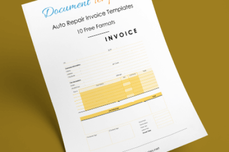 Auto Repair Invoice Templates   10  Printable and Fillable Formats