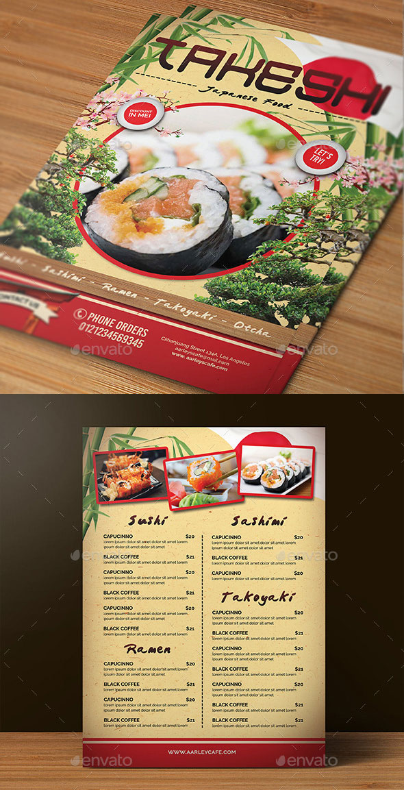 20 Japanese Restaurant Menu Templates Download In PSD EPS