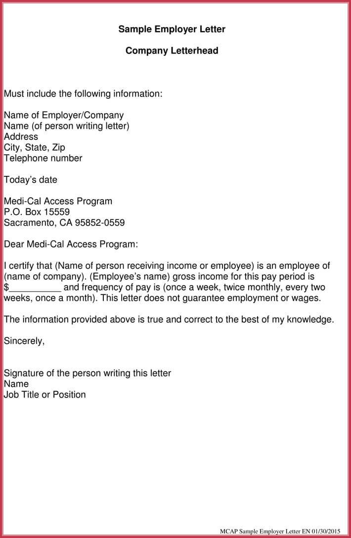 Cpa Letter Income Verification