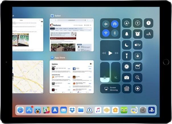 iOS 11 bedieningspaneel
