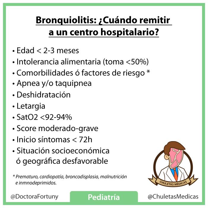 Bronquilitis, cuando remitir a centro hospitalario