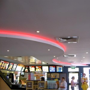 Feature Ceiling Curved Bulkhead