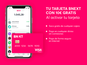 tarjeta Bnext características