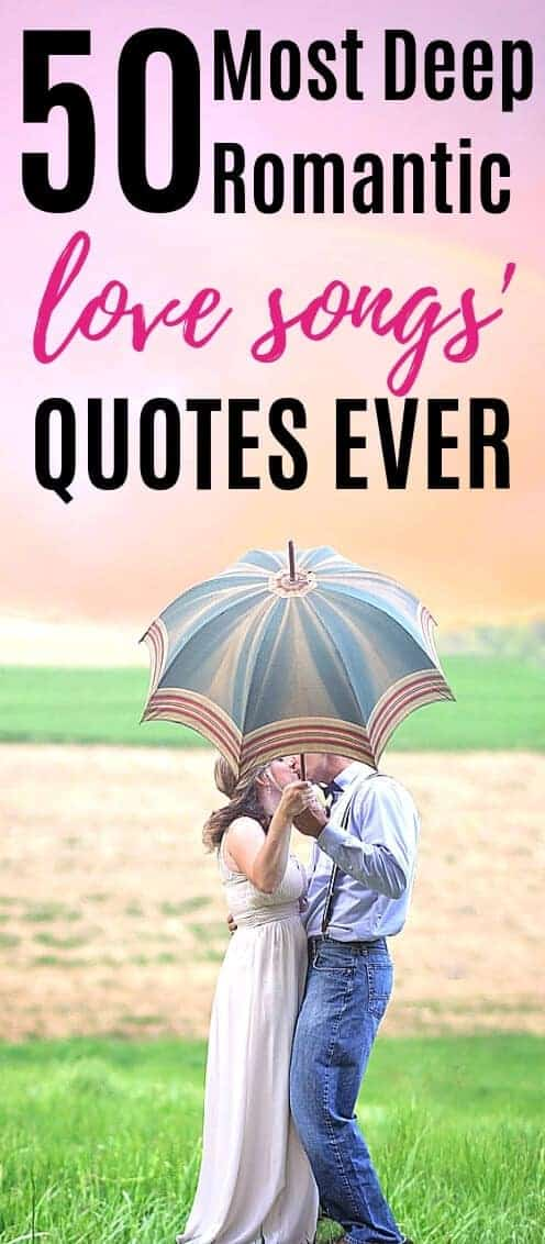 50 Beautifully romantic and evergreen song quotes and captions. Romance yourself and your loved one. Meaningful love songs especially for you.