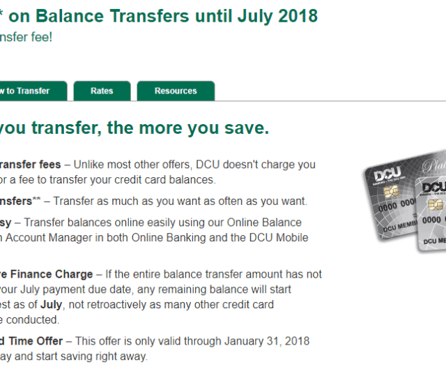 Dcu 0 Apr For  Balance Transfer Fee For New Existing Cardholders Doctor Of Credit