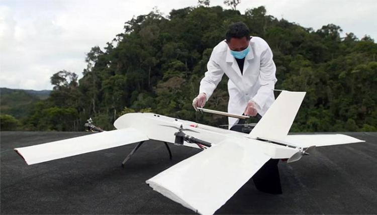 vayu drone dealivering blood samples