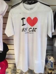 Camiseta I love my cat