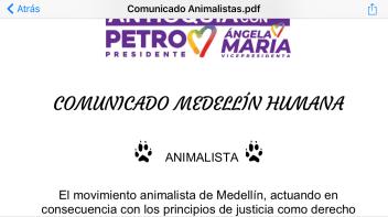 Comunicado campaña Gustavo Petro