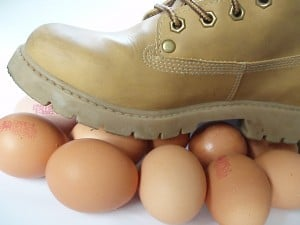 walking on eggs