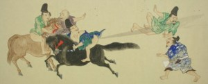 The Japanese scroll entitled He-Gassen (Fart Battle) dates from the Edo period, making it somewhere between 200 and 400 years old.