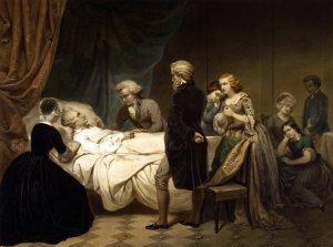 George Washington, getting his latest (and last) treatment