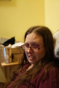 Veronica looking very distressed