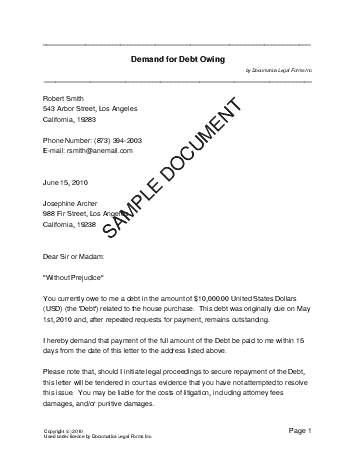 attorney demand letter sample collections | Docoments Ojazlink