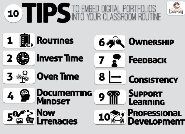 10 Tips for Embedding Digital Portfolios as Part of your Classroom