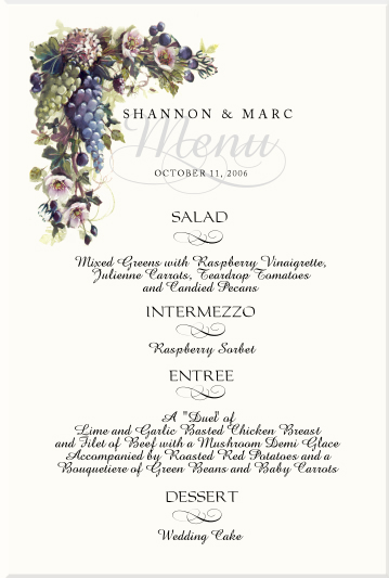 Vineyard Themed Wedding Stationery Winery Wedding Designs