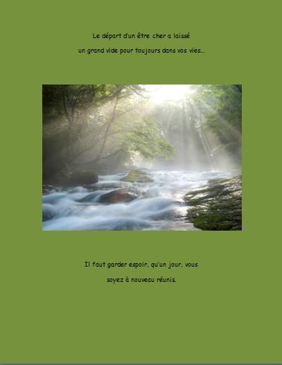 Message de condoléances… Le départ d'un être cher