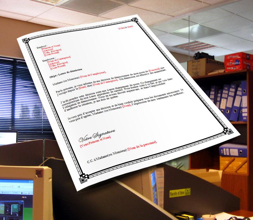 Lettre De Demission: Lettre De Démission Pour Faute Grave De L'employeur