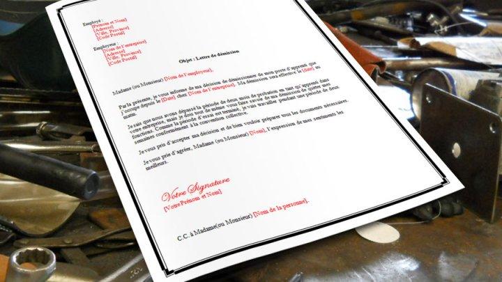 Lettre de démission pour apprenti
