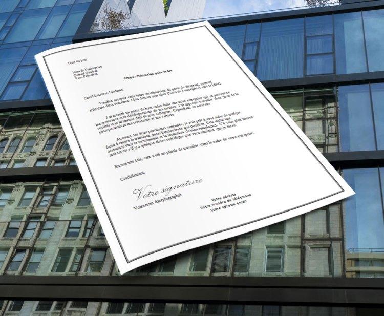 lettre_de_demission_pour_ordre_dirigean_de_societe_entreprise