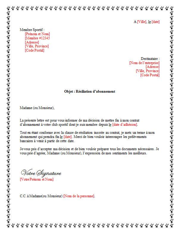 lettre_de_demission_pour_un_club_sportif