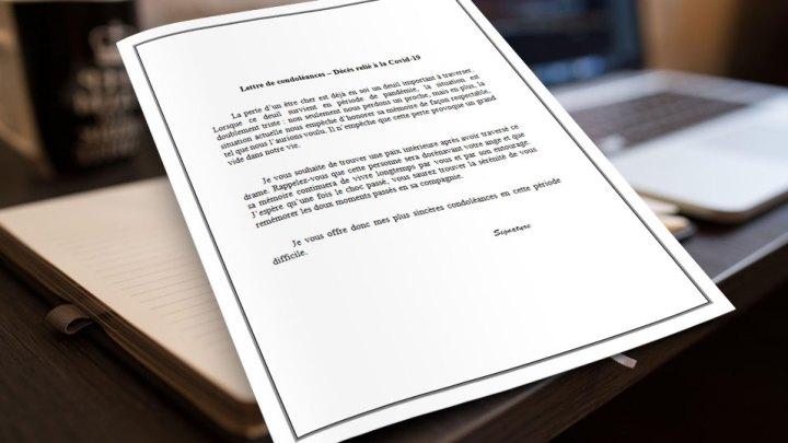 Lettre de condoléances – Covid-19