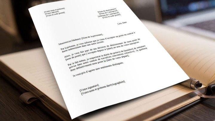 Lettre de Démission pour un CDD