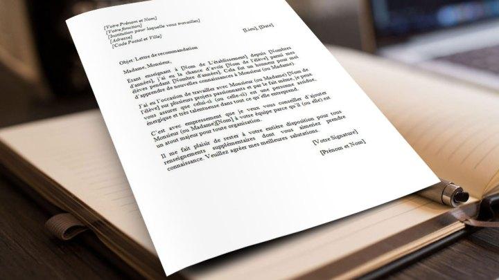 Lettre de Recommandation d'un Professeur pour son Étudiant