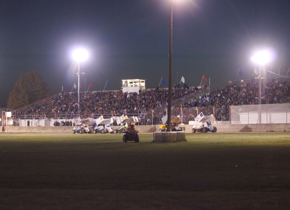Full Grandstands on Race Night