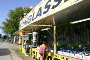 Sunglasses Product Sales Booth