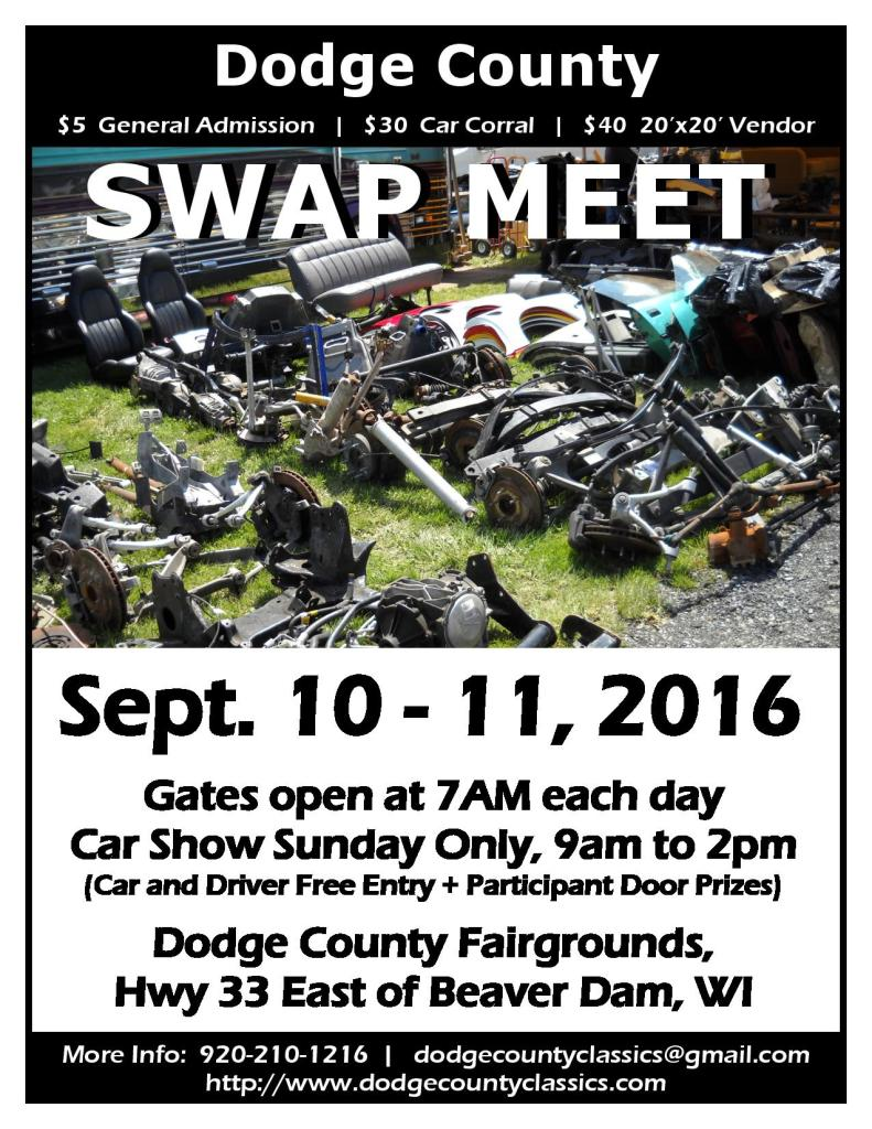 2016 Dodge County Swap Meet Poster