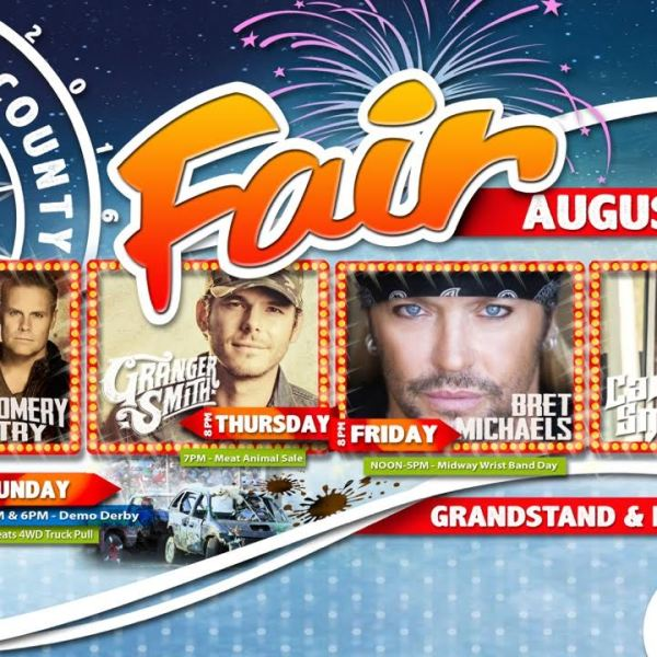 Dodge County Fair Concert Poster
