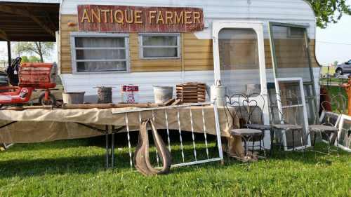 Antique Farmer display at the Flea Market