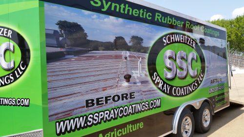 Schweitzer Spray Coatings Job Trailer at the Fairgrounds
