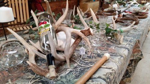 Deer Antler Wine Bottle Holders at the Dodge County Flea Market